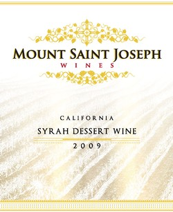 2009 California Syrah Dessert Wine