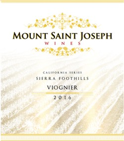 2016 Mount Saint Joseph California Viognier