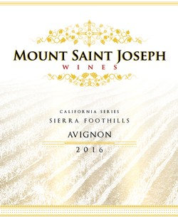 2016 Mount Saint Joseph California Avignon - White Rhone Style Blend