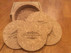 Cork 4pc coaster set Image